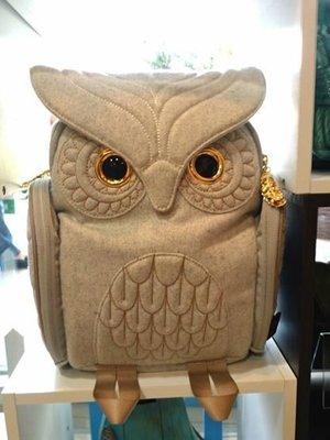 羊毛貓頭鷹後背包(S) ,實品拍攝有店面,香港Morn Creations授權🌟最特別的禮物都在奧爾思🌟