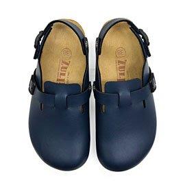 【ZULIBA熱銷款】女足跡素面半包涼鞋(36~39)-藍