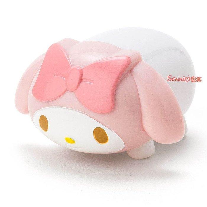 《東京家族》現貨日本三麗鷗melody美樂蒂可愛公仔造型立體護唇膏玫瑰香味