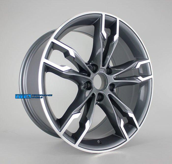 【小茵輪胎舘】類BMW M power 新款G30 M550 樣式 18吋 5X120 前後配 灰底車面/黑底車面 兩色