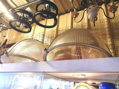 { Ruminant 慕名古物 } 超巨大厚重玻璃燈罩/早年厚玻璃大燈罩55cm