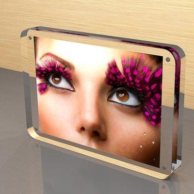 6 7 8寸壓克力相框創意雙面透明A4證書獎狀框照片擺臺相框