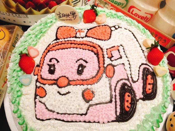 ❤ 歡迎自取 ❥ 雪屋麵包坊 ❥ 十二吋生日蛋糕 ❥ 平面安寶卡通車車 ❥❥ 送生日快樂蠟燭唷