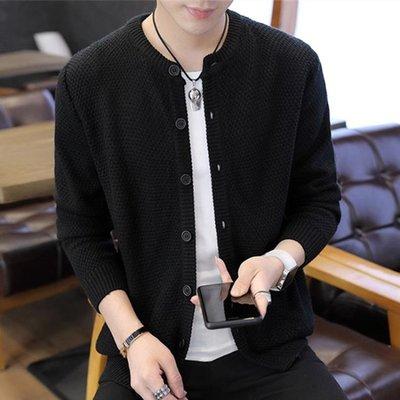 夏季薄款純色開衫毛衣男士韓版潮流寬鬆毛線上衣服青年休閒外套男