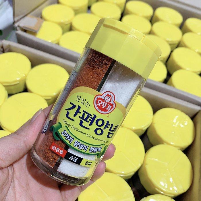 匯盈一館~韓國三合一調味粉 59g ~ 170元/罐 ~辣椒粉海鹽胡椒粉