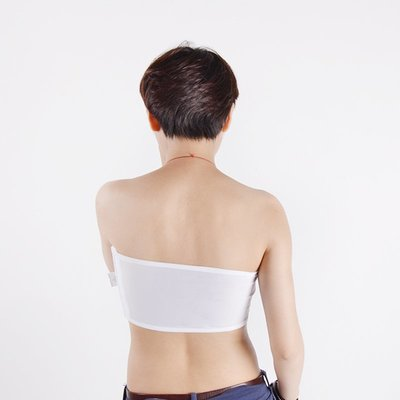 les夏季透氣抹胸薄款一片式棉無肩帶防走光tt裹胸內衣女