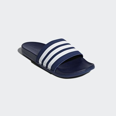 # adidas adulterer comfort 深藍色 軟Q 舒適拖鞋 運動 男鞋 休閒 B42114 YTS