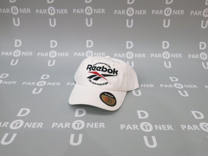 【Dou Partner】REEBOK READY TO WEAR CAP 棒球帽 帽子 白色 ED1310