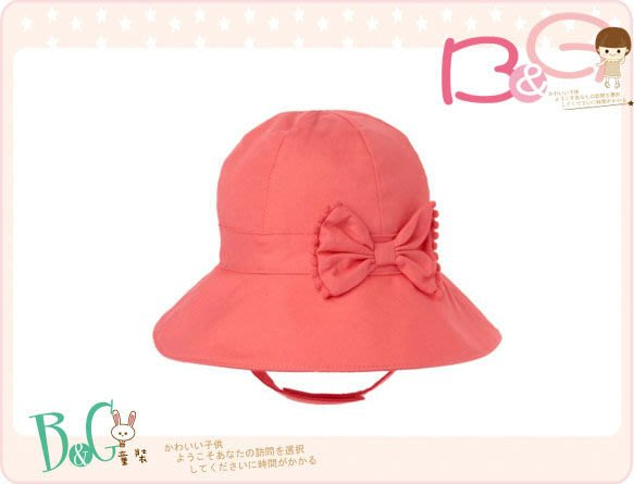 【B& G童裝】正品美國進口GYMBOREE Bow Sunhat 蝴蝶結嬰兒繫帶帽12-18mos