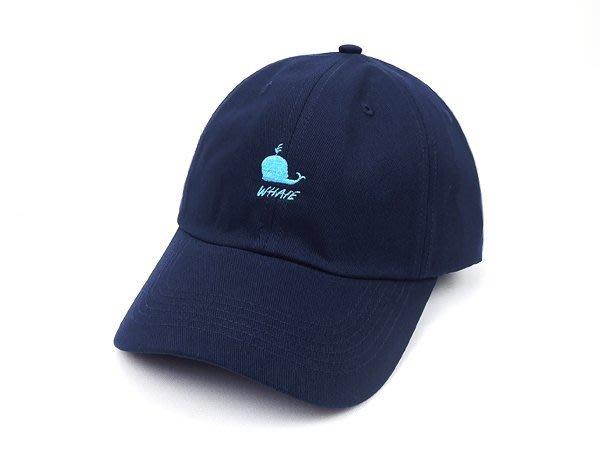 ☆二鹿帽飾☆ (鯨魚 WHAVE)立體棉質 老帽/流行棒球帽/休閒帽最新帽款/帽簷 7.5cm-藍色