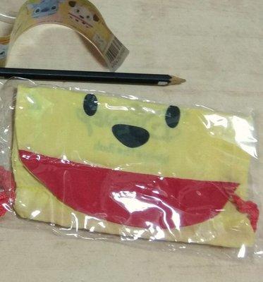 迪士尼 小熊維尼 束口袋 置物袋 化粧包 扭蛋