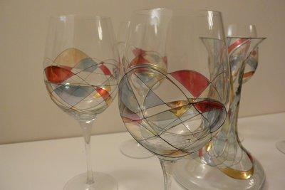 手繪玻璃醒酒器及酒杯套裝 Hand-Painted Wine Decanter & Glasses Set