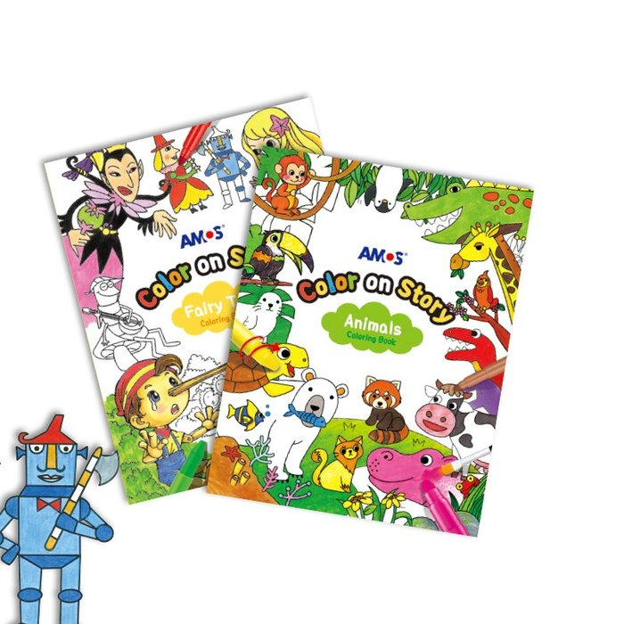 千夢貨鋪-兒童繪畫冊涂色畫3-6歲填色紙描紅畫畫紙12張24頁涂鴉紙#兒童玩具#益智玩具#黏土#積木