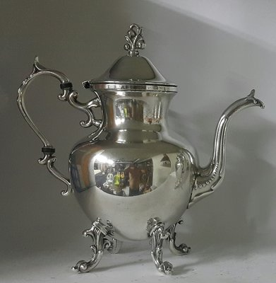 378英國貴族鍍銀壺Birmingham Silver Co. Antique Coffee Pot W/Top