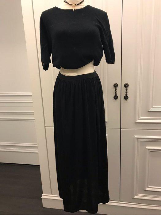 黑色休閒長裙