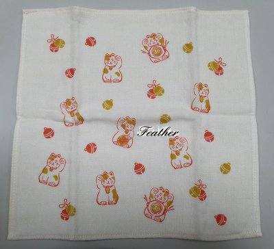 【Feather Living Shop】 日本製 小原株式會社 紗布巾 小方巾 紗布手帕 小毛巾 100%棉 (二款)