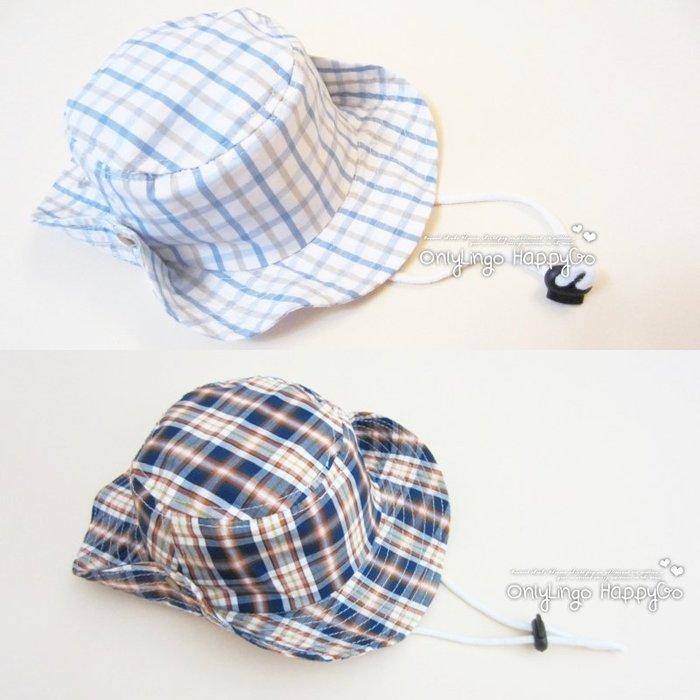 ≡ OnlyLingo ≡ 細紋格子二戴法牛仔帽 1-8Y 頭圍 47-53cm