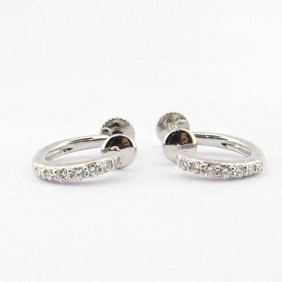 【JHT 金宏總珠寶/GIA鑽石專賣】天然鑽石耳環/材質:PT900/585(JB47-A22)