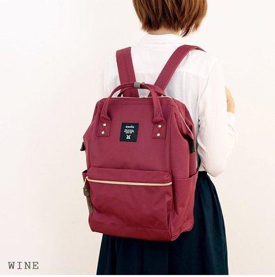 【全年無休,天天出貨!】現貨   (酒紅色)  anello超大容量 後背包