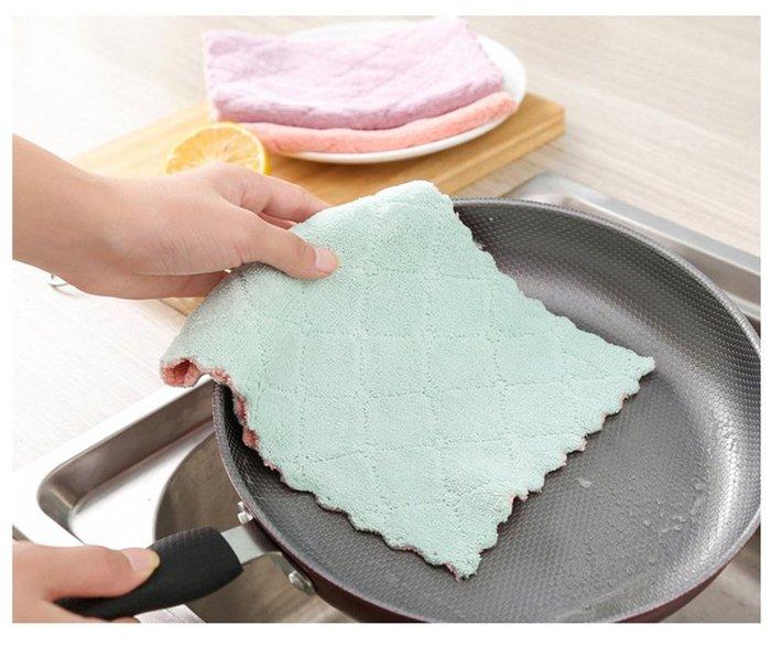 高吸收超細纖維清潔布,抹布 洗碗巾 洗碗布 毛巾 清潔抹布 百潔布 珊瑚絨格紋抹布