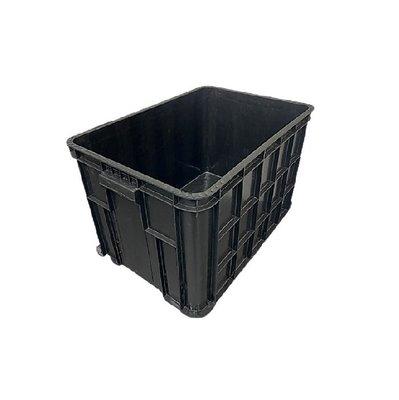 3個免運組   TC-08 八格密 八格儲運箱 物流箱 塑膠藍 鐵柄籃 經典黑色 收納箱 搬運箱 整理箱 蘆筍籃