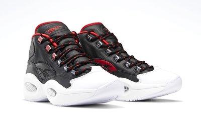 =CodE= REEBOK QUESTION MID OG HARDEN 皮革籃球鞋(黑白)FZ1365 IVERSON