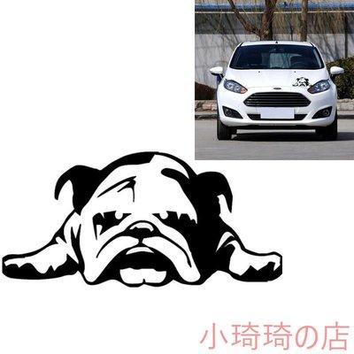 1個 English Bulldog Tired Puppy Dog車貼 個性狗狗車貼 動物車貼 防水貼紙 車貼 全店滿400元發貨 小琦琦の店