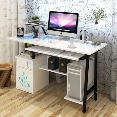 烤漆90~120厘米 電腦桌台式家用辦公桌寫字桌書桌簡約台式桌子    ATF 全館免運 全館免運