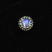 銀革手作 925 純銀 天然 藍光 月光石 月亮石 皇冠 耳環