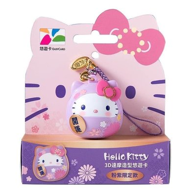 「雙12到貨」Kitty 達摩造型悠遊卡-粉紫限定