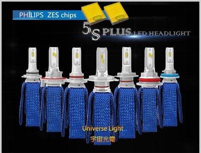 5S PLUS FORCE 飛利浦 ZES 4000LM H1/H3/H4/HS1/H7 LED 頭燈 大燈 機車
