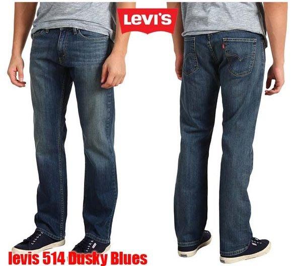 【 超搶手 】美國 全新正品 Levis 514 -0424 Slim Dusky Blues Jeans 小直筒合身 藍 刷紋 W30