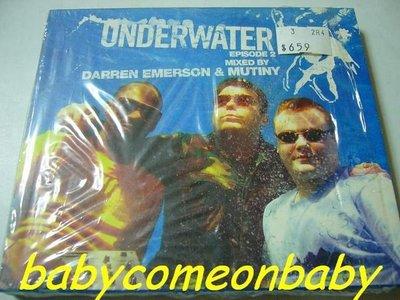 舊CD英文專輯-Underwater Episode 2 Mixed By Darren Emerson & Mutiny雙CD(只拆側邊膠膜還在)