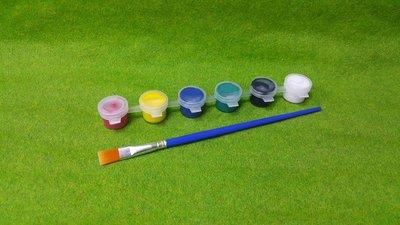 【五旬藝博士】壓克力顏料條 3ML (6色顏料組+大黃筆) 套裝組 歡迎大量訂購