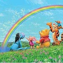 協泰 拼圖-現貨 Tenyo 1000-233 小熊維尼 絕版 迪士尼 Disney 彩虹 花園 跳跳虎 小豬 1000片