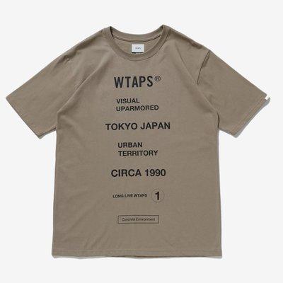現貨 wtaps CIRCA 隱藏目錄款 20ss 短袖 tee 非目錄款 卡其