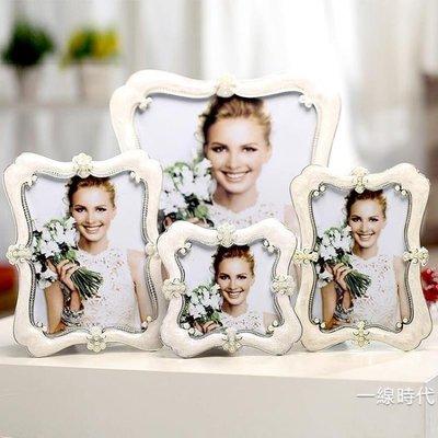 哆啦本鋪 相框擺臺創意歐式小奢華6寸7寸10寸加沖印照片婚紗照相架臥室桌擺 D655