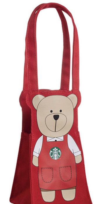 Starbucks 星巴克 紅Bearista隨行杯袋—-含運