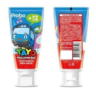 牙齒寶寶 台灣製造 博寶兒 Probo TAYO卡通連名款 多多口味牙膏 80g 另有佩佩豬(葡萄口味)
