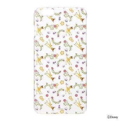 尼德斯Nydus~* 日本正版 迪士尼 小鹿斑比 透明 硬殼 手機殼 小花 5.5吋 iPhone6+ Plus