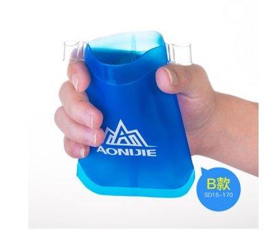 運動袋裝軟水袋 戶外徒步登山 馬拉松比賽專用軟水袋可折疊越野跑步170ML