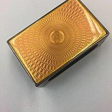 英國銀橙色燒青舊火柴盒