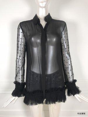 [我是寶琪] Preen Line 黑色雪紡上衣
