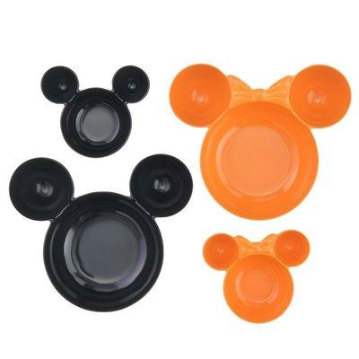 *FollowV*日本廚房《現貨》迪士尼萬聖節 米老鼠米奇與米妮 親子碗盤 四入組 迪士尼商店