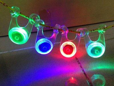 【大山野營 】買10顆送收納袋 TNR-053 閃爍警示燈 營繩燈 自行車尾燈 車燈 露營燈 營釘燈 帳篷燈 夜間反光