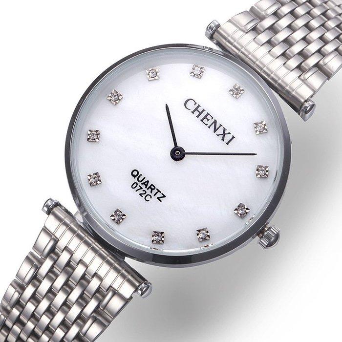 超薄鋼帶男錶防水情侶手錶時尚潮流女錶復古石英腕錶p70