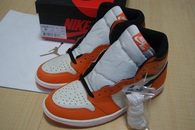 Nike Air Jordan 1 Retro High OG 喬丹一代AJ1灌碎籃框白橘配色籃球鞋555088-113