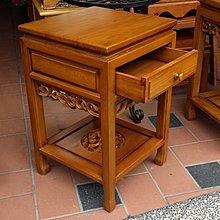 美生活館 --柚木家具--100%原木--柚木一抽矮花台/電話架/角落架