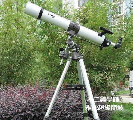 【格倫雅】天文望遠鏡 天狼80EQ 啟航風號2012款80900 Q180L 雙PL目