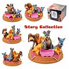預購☆汪將☆日本迪士尼 lady and tramp 小姐與流氓 公仔 擺飾 Story Collection